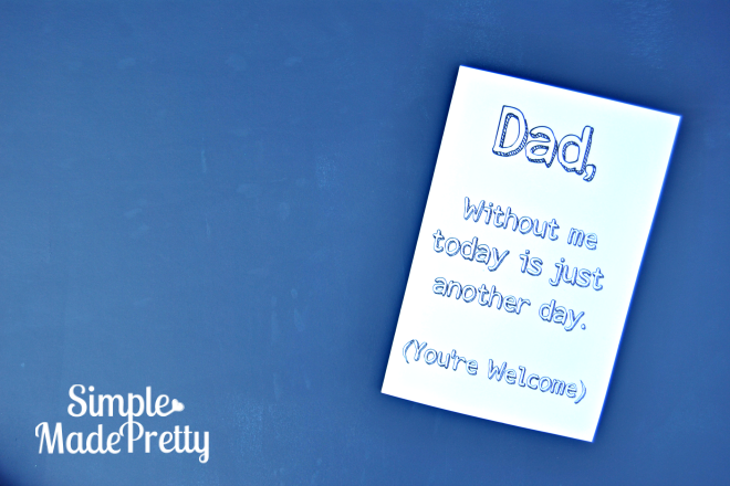 This Father's Day card is super funny!