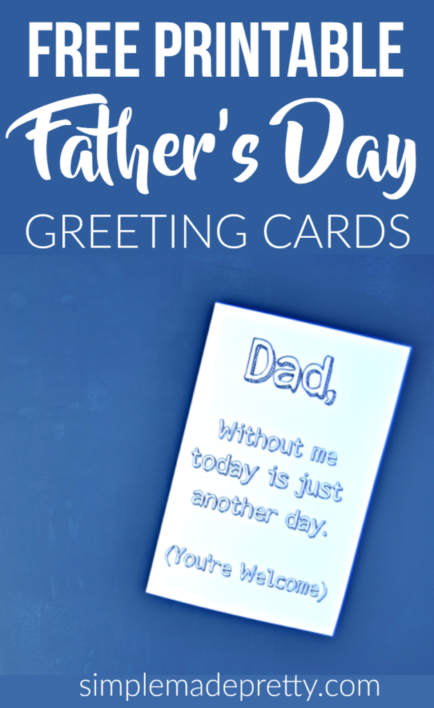 My teenager gave this card to his dad for a Father's Day gift and it was so funny! She has more free printable Father's Day cards on her bog!