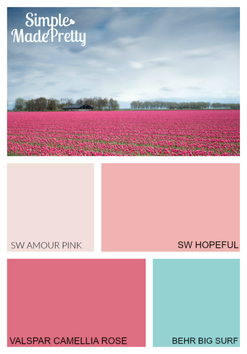These pink paint colors are fun for little girls who are obsessed with pink. These were the colors of my daughter's bedroom when she was little.