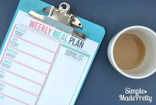 Meal Planning 101: Use a menu board
