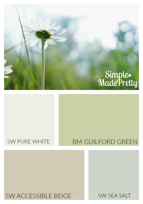 This soothing green paint color is perfect for the bedroom. She has great suggestions with more paint colors for the home!
