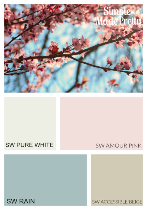 This feminine paint color is perfect for a girl's room or master bedroom. This is the perfect way to add pink paint colors to a space without going overboard.