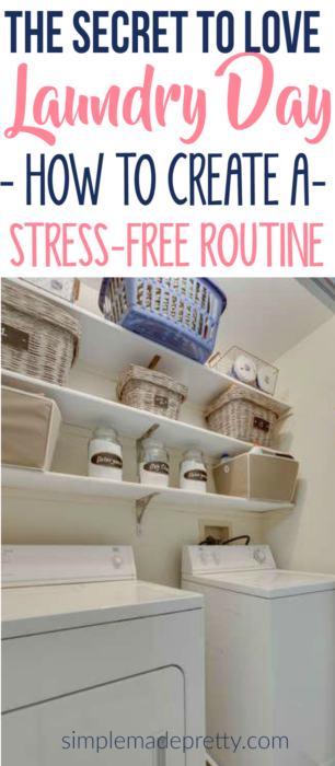 I love her laundry routine ideas! She provides a basic laundry schedule for working women and stay at home moms. The free printable laundry bin labels came in handy and will help keep our laundry room organized.