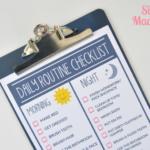 Free Printable Daily Routine Checklist