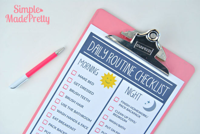 Free Printable Daily Schedule for Preschool
