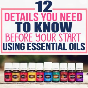 I wish I knew more about essential oils before I bought my first Young Living starter kit. She gives awesome tips on how to use essential oils and how to be careful using essential oils.