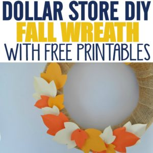 These wreaths are easy Dollar Store Fall Decorations if you like Dollar Store DIY and Dollar Store crafts. I love finding never seen before Dollar Store hacks and this wreath added the perfect addition of Fall color to our home. I love that it can be used again for other seasons!