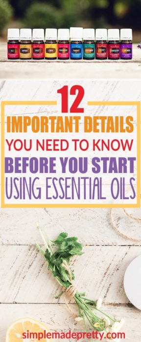 Before you start essential oils diy, you should read this post with everything you need to know about using essential oils. She explains how to start using essential oils and essential oil cautions. Read this if you are a essential oils beginner !
