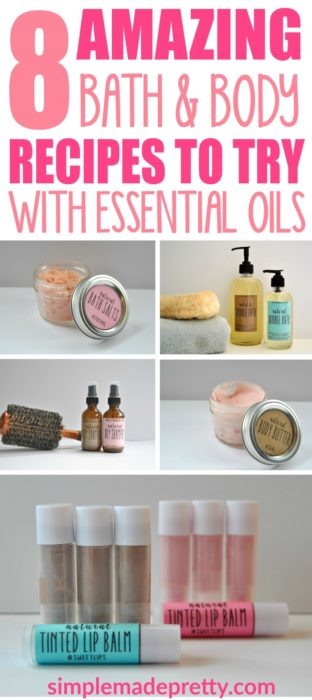 These recipes using essential oils from Young Living will blow you away! I never knew how easy it was to make my own lip balm, dry shampoo spray, sugar scrub, and all the other awesome 8 essential oil DIY ideas in this post!