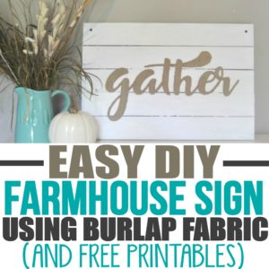 This gather wood sign was really easy to DIY! I wanted a Gather sign for the dining room and now I have one without spending a ton of money! It creates the perfect rustic farmhouse style decor that I was looking for but couldn't find in a store. She has lots of other DIY craft and decor ideas on her blog!