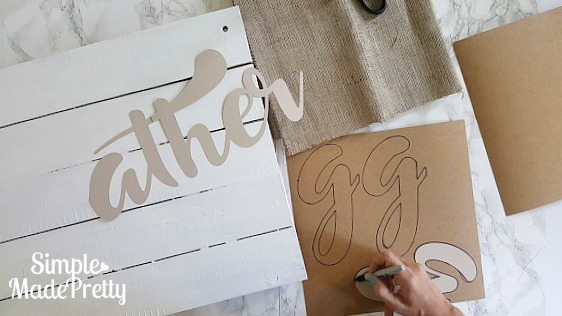 DIY farmhouse sign - Gather Farmhouse sign