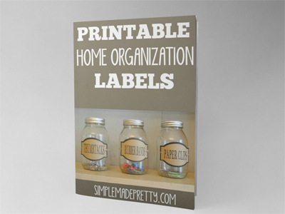 Add the finishing touches to your organized home with these printable labels!