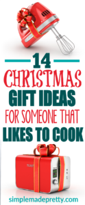 Need a gift idea for someone that loves being int he kitchen? Check out this list with 14 affordable gift ideas for anyone that loves to cook. If they like to cook, they will love these kitchen gadgets!