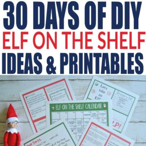 Download the 30 day calendar which includes fun nightly activities for your elf on the shelf! She makes it so easy by including tons of printables, including some free printable elf on the shelf superhero costumes!