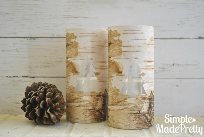 DIY Dollar Store Faux Birch Bark Vases Simple Made Pretty - Beautiful diy birch bark lamp