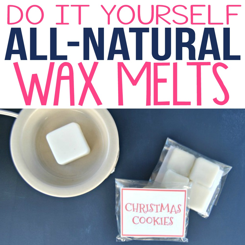 Learn how to make these DIY wax melts recipes using simple ingredients and essential oils. I made these as gift ideas for the holidays and my friends and family loved the fragrance! These homemade wax melts have natural ingredients including beeswax and coconut oil. She has some free printable labels so you can give as gifts with an electric wax warmer.