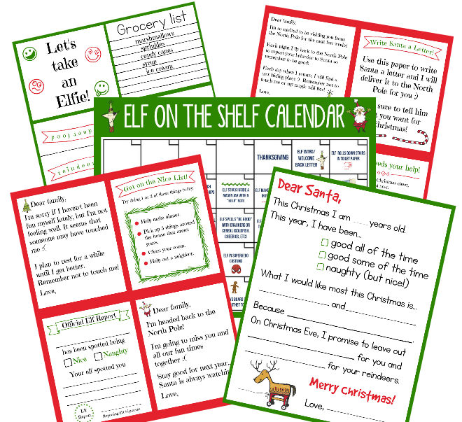 Elf on the shelf ideas for kids funny. Printables for elf on the shelf.