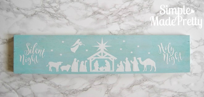 Handmade Wooden Nativity Silhouette decor
