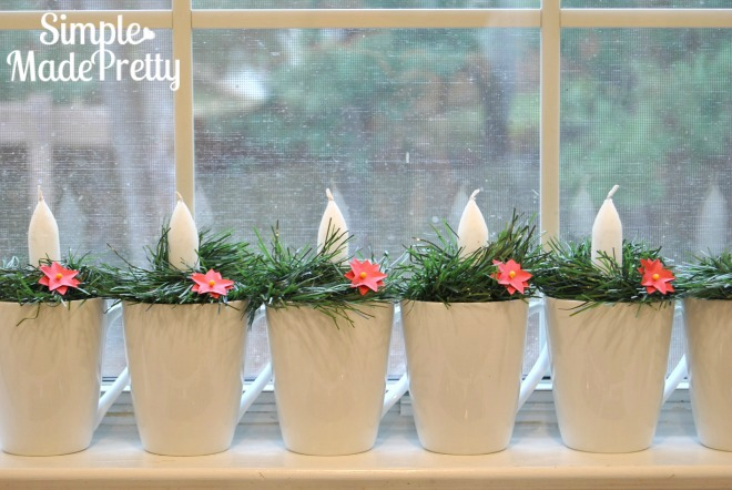 I love these dollar store Christmas decorations DIY ideas! The budget candles holders were perfect to use in our holiday decor. Check out how she turned a jar into a snow globe! I love dollar store crafts and decor ideas!