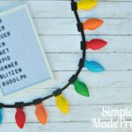 DIY Felt Christmas Lights Garland Decor