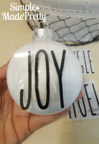 DIY Rae Dunn Inspired Christmas Ornaments