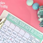 FREE Printable 30 Day Calendar to Organize Your Home