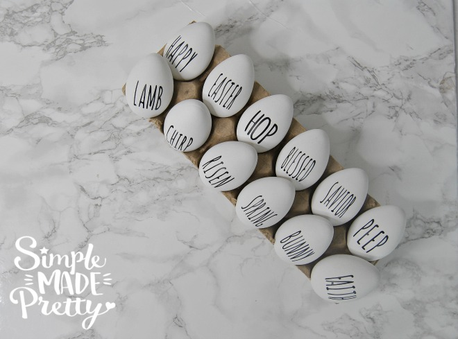 I love these Easter crafts! These DIY Rae Dunn Easter eggs are so cute!