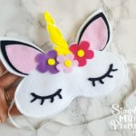 Cricut No-Sew Felt Unicorn Sleep Mask