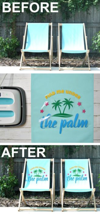 Check out this awesome bundle with SVG files & Fonts for your next Cricut or Silhouette project! #summerdiyprojects #summercricutprojects #cricutprojectideas DIY outdoor chairs | Cricut HTV | Cricut iron on ideas | Cricut SVG files | pool chairs | DIY pool chairs | DIY beach chairs | ikea hack | Ikea chair hack | DIY lounge chairs