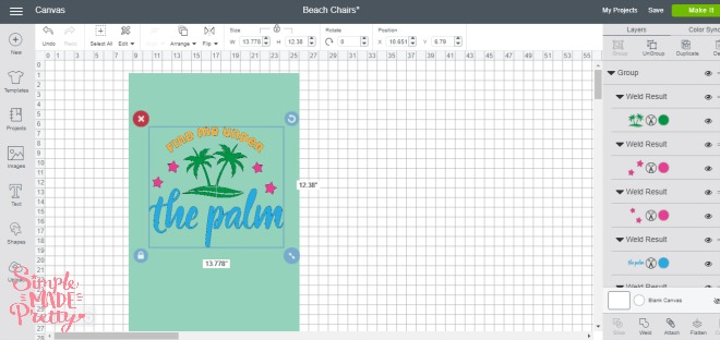 How to upload SVG files in Cricut Design Space. Make a fun beach chair with Cricut