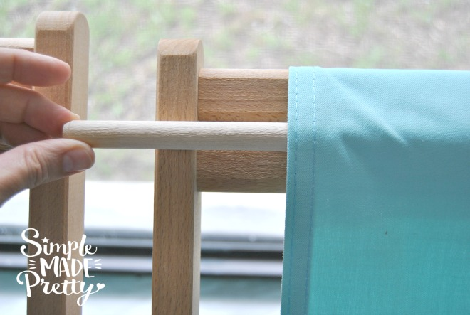 DIY wooden beach chairs ikea. How to replace the fabric on outdoor loungel chairs