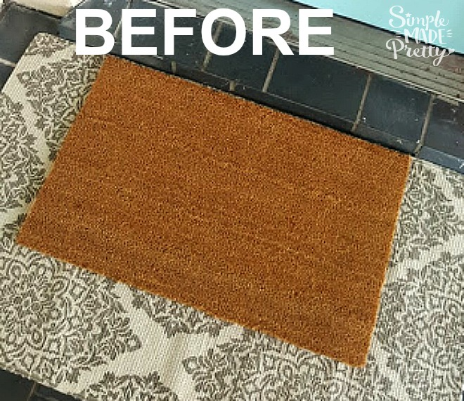 This is the best rectangle plain welcome mat to make a DIY welcome door mat for funny welcome mat ideas