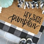 DIY Hey There Pumpkin Welcome Door Mat With Free SVG File