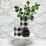 DIY Dollar Store Buffalo Plaid Vases