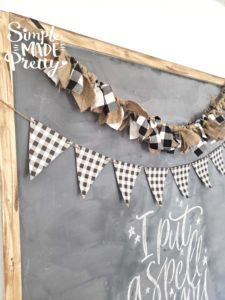 This Fall Banner and Fall home decor is so easy to make and you can find supplies at the dollar store. I love her free printbales, including this buffalo plaid banner!