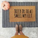 Halloween Doormat DIY With Free SVG File