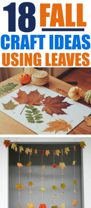 Did you ever use fallen leaves to make interesting leaf crafts as a kid? I wanted my kids to also have that experience so I compiled this list with leaf art projects! These 18 Ideas For Fall Crafts With Leaves will inspire you to be creative and use all those Fall leaves outside (which are free by the way) in some fun leaf art projects. These Fall leaf crafts are perfect for kids and for adults! Fall leaf crafts for kids, leaf crafts, leaf drawing, leaf rocks, leaf crafts fall #fallleafcrafts