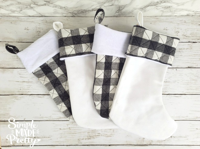 Gray Christmas Stockings.How To Sew A Christmas Stocking Simple Made Pretty 2019