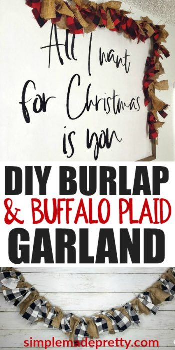 Burlap fabric crafts, burlap fabric DIY ideas, burlap fabric home decor, how to make burlap fabric crafts, burlap fabric by the yard, cheap burlap fabric, buffalo plaid Christmas, buffalo plaid decor, where to buy burlap fabric, where to get burlap fabric #Burlapdecor #ModernBurlap #BurlapBanner