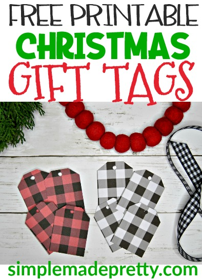 Free Printable Christmas Gift Tags Simple Made Pretty 2020