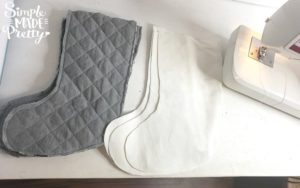 This is the perfect sewing project for a beginner sewer. I'll teach you how to sew a Christmas stocking with a cuff but you can eliminate the cuff if you don't have enough fabric or feel too inexperienced to add a cuff. You can also hand sew Christmas stockings but I use a sewing machine in this tutorial. If you are wondering how to make a simple Christmas Stocking or want to make your own buffalo plaid stockings then keep reading! #DIYChristmasStockingideas #sewingforbeginners