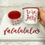 How To Make A Coffee Mug With Cricut (Free Christmas SVG File)