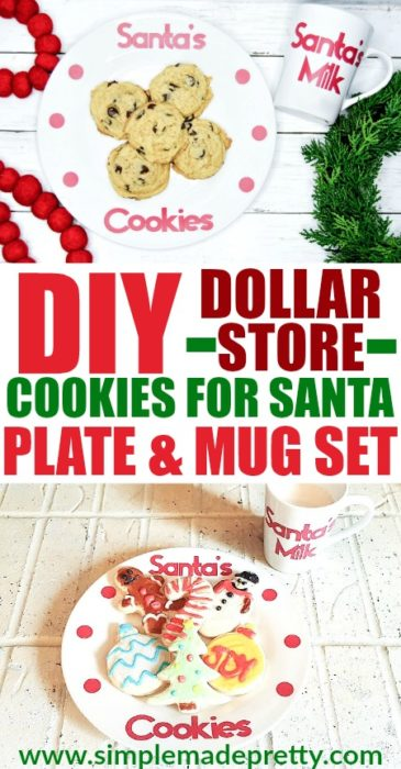 Dollar Store DIY Cookies For Santa Plate And Mug Set, Cookies for Santa Plate, Cookies and Milk for Santa, Cookies for Santa Plate and Mug Set, Cookies for Santa SVG, Cookies and Milk for Santa Set, Cookies for Santa Plate and Mug, personalized cookies for Santa plate, DIY Cookies for Santa Plate, Cookie Plate for Santa, Christmas Cookie Plate for Santa, Dollar Store Christmas Crafts, Dollar Store Christmas Gifts, Dollar Store Crafts for Christmas, Dollar Store DIY Christmas Project
