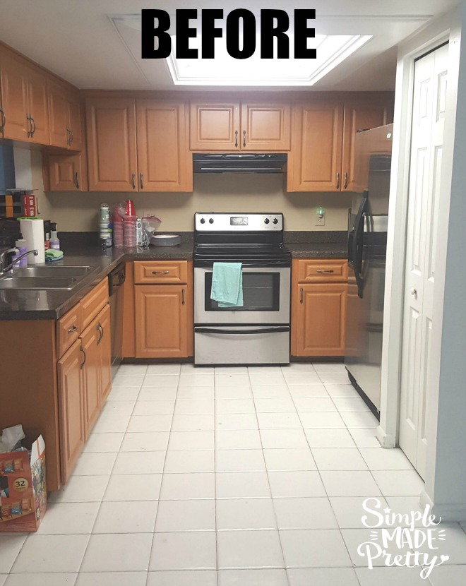 farmhouse white kitchen before and after pics