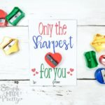 Dollar Store Pencil Sharpener Free Printable Valentine Cards
