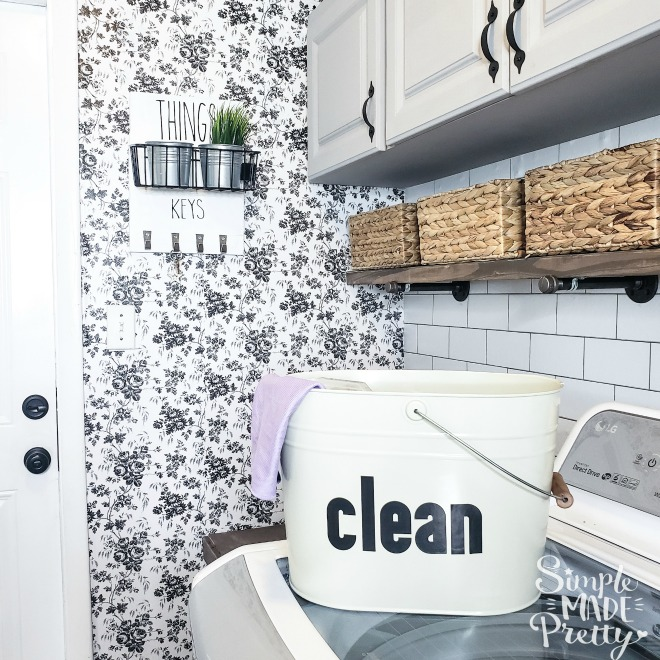 Dollar Store Hack Peel And Stick Wallpaper Simple Made Pretty