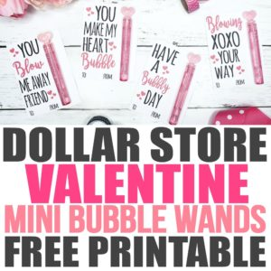 free printable valentines, dollar store crafts, dollar store DIY, printables valentines, printable valentines day cards, free valentines printables, free printable valentine, valentine cards for kids, valentine cards DIY, printable Valentine's Day cards for kids, dollar store valentine crafts, dollar store valentines gifts, dollar store Valentine's gift ideas, bubble wand, bubble Valentine printable, dollar store bubbles