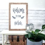DIY Large Foam Board Farmhouse Sign