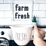 Dollar Store DIY Plexiglass Farmhouse Sign