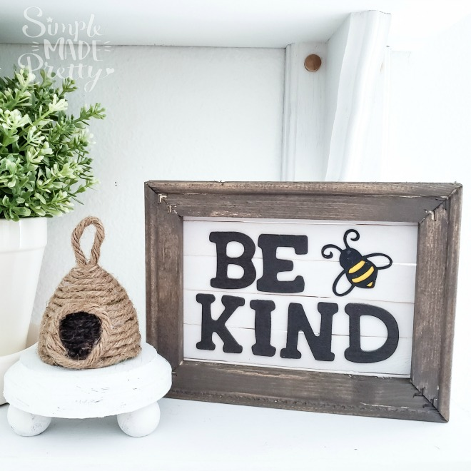 bee kind sign diy